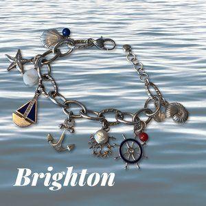 Brighton Nautical Charm Bracelet (EUC)